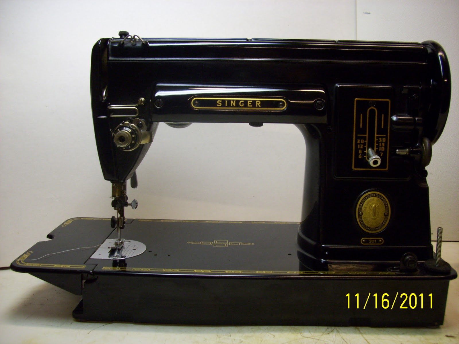 black sewing machine