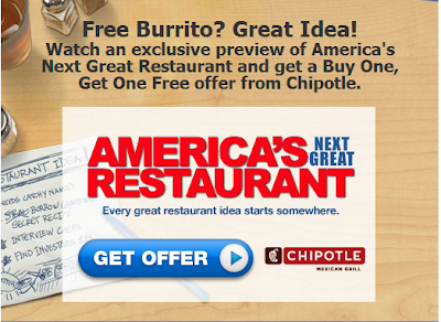 Watch AmericaÃ's Next Great Restaurant' promo & Win free Chipotle
