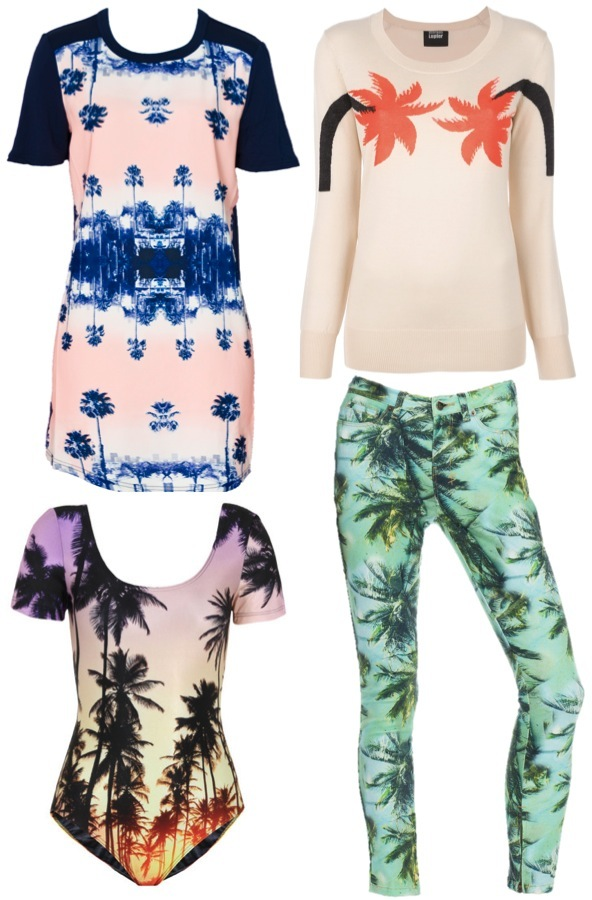 palm tree print clothing
