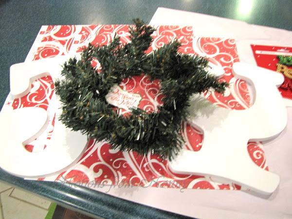 Easy JOY Monogram Christmas Wreath