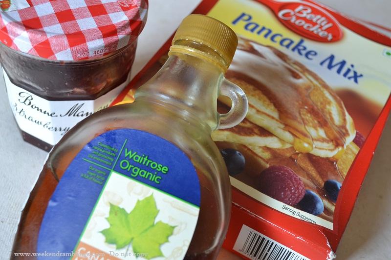 pancake mix box cake strawberry recipe