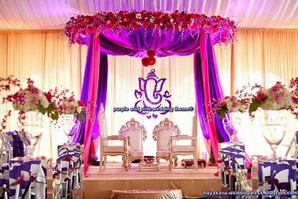 purple and pink wedding theme