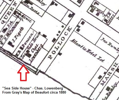 1880 Gray's Map - Atlantic Hotel Lot and Sea Side House