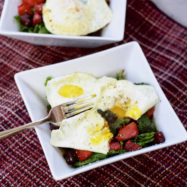 hash with eggs