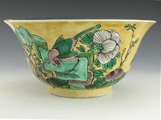Kangxi Famille Vert-Jaune Bowl