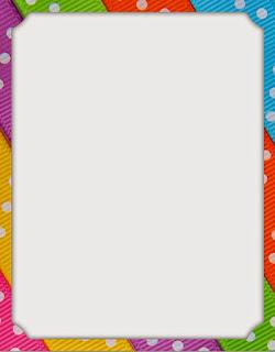 Caratula para cuadernos de niñas - Borde colorido