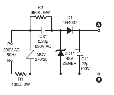 220v ac ultra bright leds lamp circuit schematic diagram