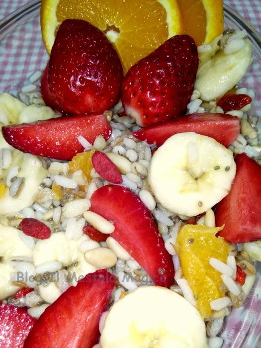 macedonia di cereali e frutta