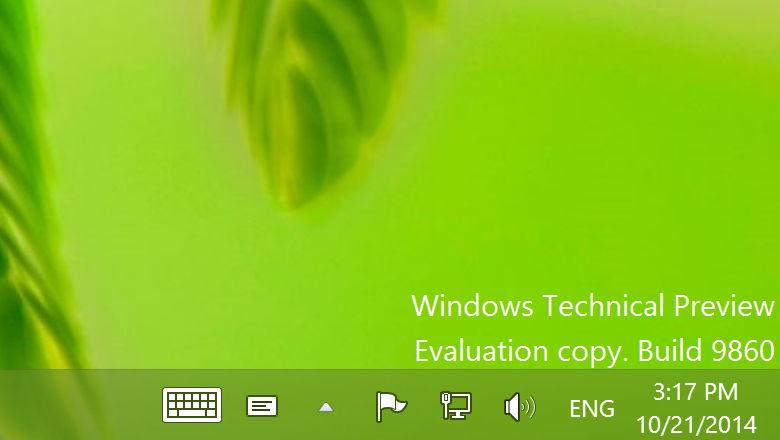 Windows 10 build 9860 ISO PRO VERSION 2014