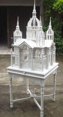 gabbia per uccelli decorativa a castello castle birdcage
