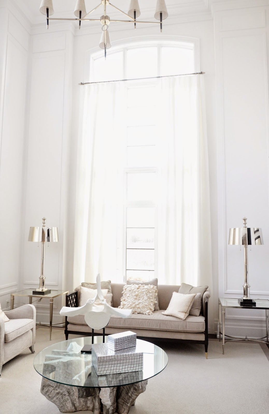 White Living Room Interior Deisgn Inspiration: Princess Margaret Lotto Show Home