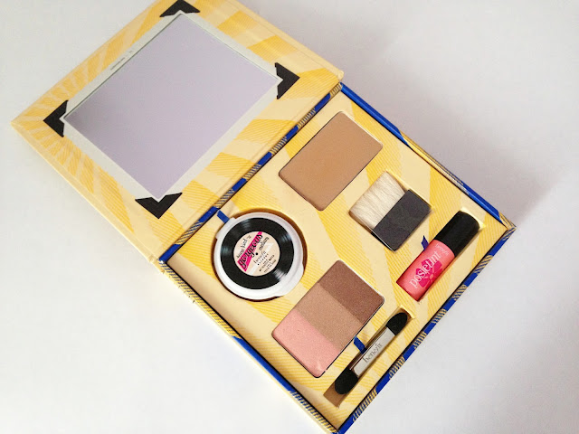cabana glama, benefit, box set, eyeshadow, some kind-a gorgeous, review, twoplicates, swatches, photos, thoughts, posie tint, hoola bronzer, beauty blog,