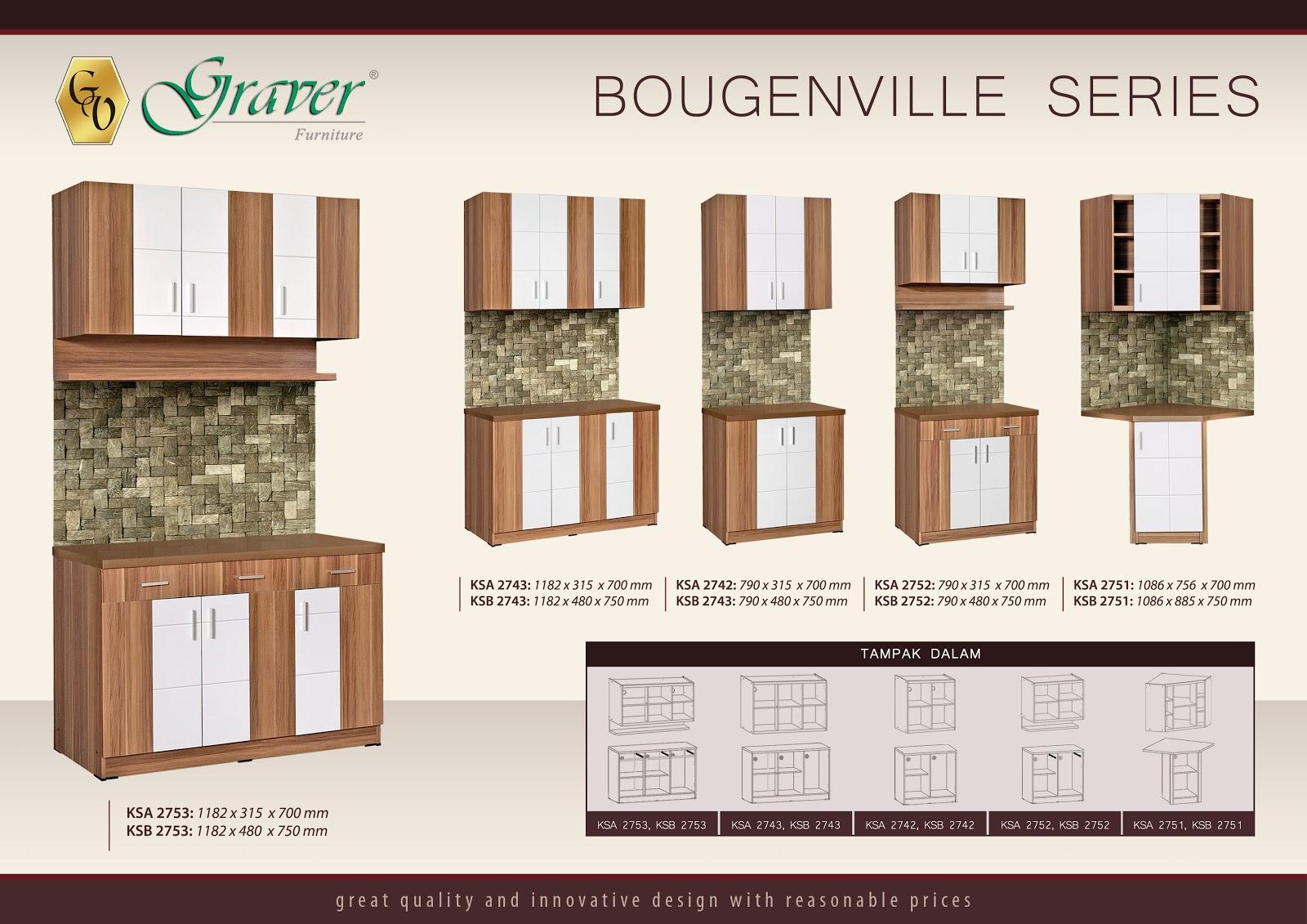 Toko furniture di cianjur kitchen set bougenville for Harga pasang kitchen set