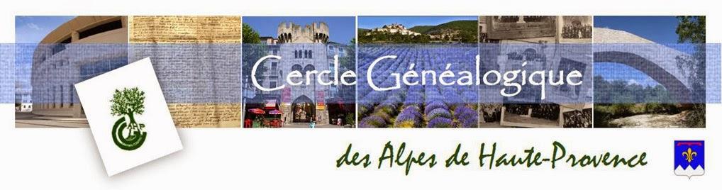 Cercle Généalogique  des Alpes de Haute Provence