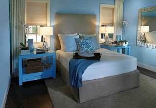 Blue black and white bedroom ideas