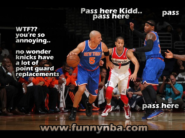 Knicks Wizard Kidd Carmelo Anthony Annoying Pass Funnynba Funny