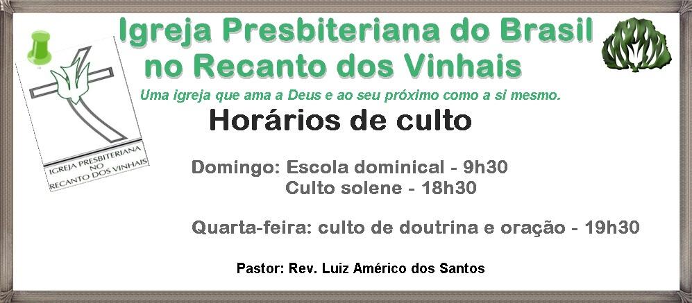Igreja Presbiteriana Do Brasil No Recando Dos Vinhais