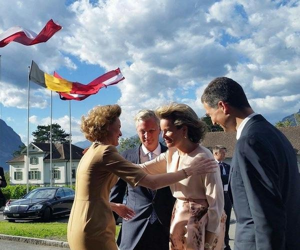 HRH Hereditary Princess Sophie of Liechtenstein and King Philippe and Queen Mathilde attended the annual meeting of the heads of state of German-speaking countries in Vaduz, Liechtenstein (Principality of Liechtenstein), Prince Hans-Adam, Hereditary Prince Alois, Prince Joseph Wenzel, Prince Georg, Prince Nikolaus, Prince Maximilian, Prince Alfons, Prince Constantin, Prince Moritz, Prince Benedikt,