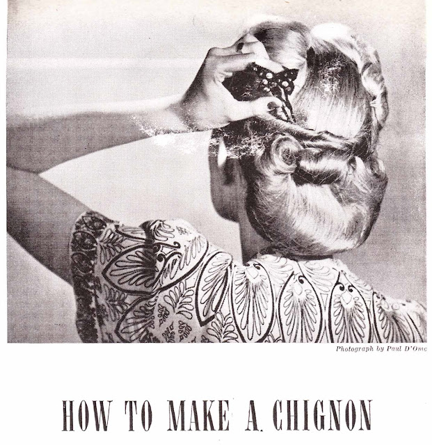 how to make a chignon 1950s style