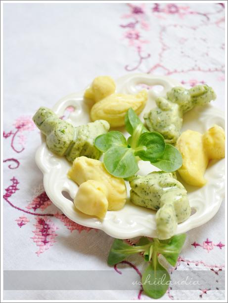 zajączki wielkanocne z masła smakowego DIY