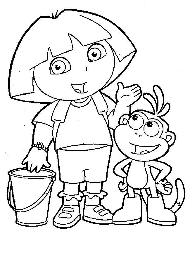 Colorear Dora Exploradora