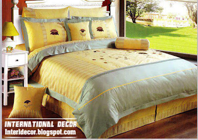 modern soft yellow duvet cover sets bedding, modern yellow bedding design