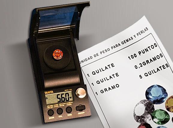 El peso de las piedras preciosasy perlas se mide en Quilates y Puntos