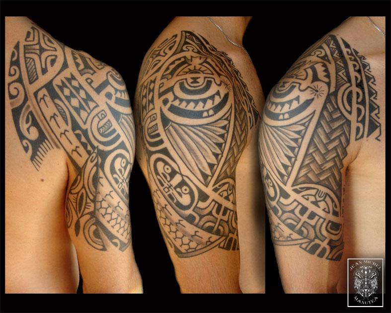 tatouage polynesien polynesian tattoo july 2011. Black Bedroom Furniture Sets. Home Design Ideas