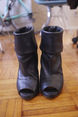 Acne Studios Raya peeptoe leather boots