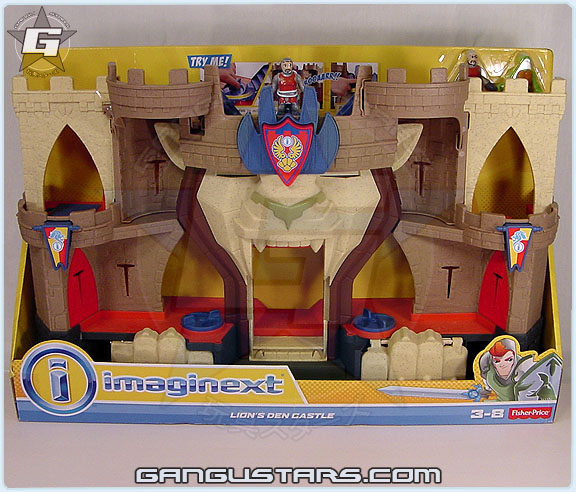 Imaginext Lions Den Castle knights figures Fisher-Price imaginext mattel toys イマジネックスト おもちゃ