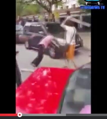 Video Bergaduh sampai pecah kepala lepas kemalangan