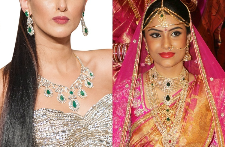 Do you think why women and specially brides waste much time in finding and select a special kind of jewelry for them.... answer is very easy ..... because wedding ceremony happens only once in life, (many times it may happen twice or thrice under special terms and conditions). Brides try hard to find good and gorgeous jewelry items which can be used with matching Lehenga or Farak. If yor are bride and your bridal ceremony is very close and date is fixed, then you will be busy in selecting an antique jewelry designs, do not worry here below we provided many designs of different kinds of jewelry which can be used fro your ears, nose, arms, feet, neck and toe, so browse down and select any one.... 1. Polki Bridal Jewellery 2. Diamond Bridal Set 3. Gold Bridal Jewellery 4. Bridal Set Of Semi-Precious Stones 5. Antique Gold Set For Wedding 6. Maang Tikka 7. Tagdi 8. Mangalsutra 9. Matha Patti 10. Kada 11. Haath Phool 12. Bajubandh.... Jewelry Designs for Brides