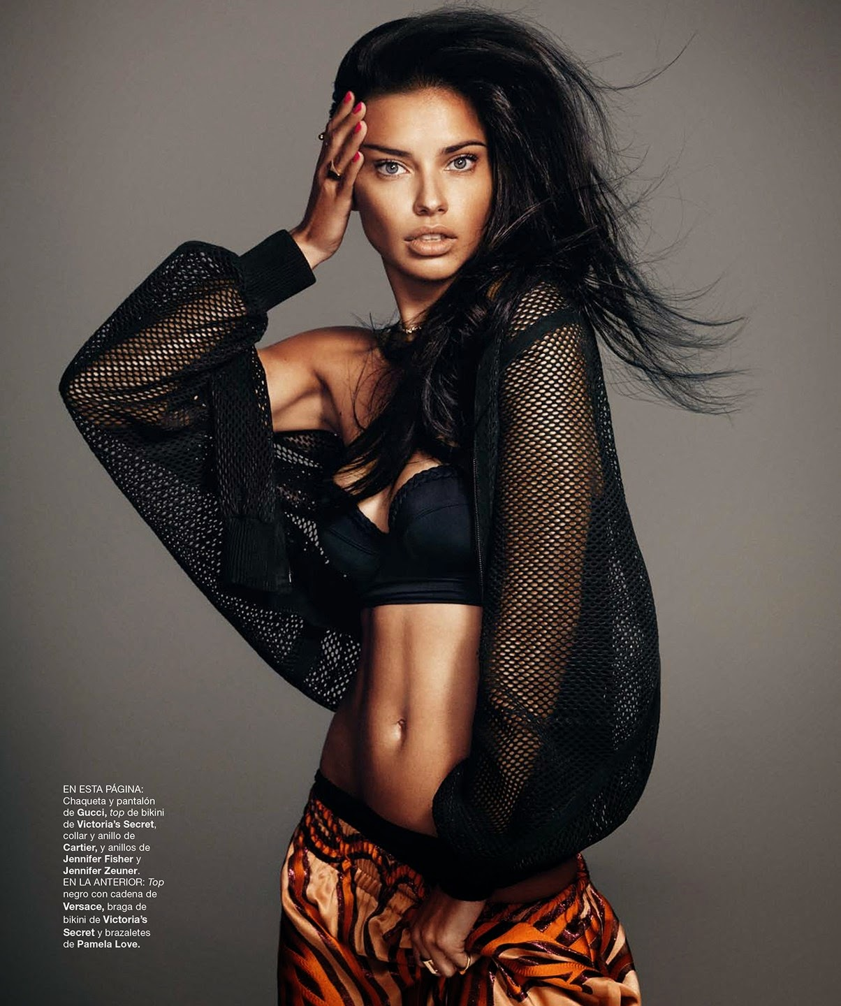 Magazine Photoshoot : Adriana Lima Photoshot For Harper's Bazaar Magazine Spain February 2014 Issu