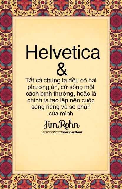 [Sans-serif] Helvetica Việt hóa