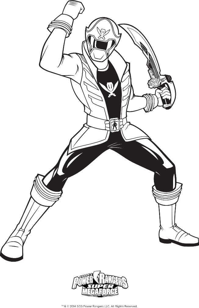Power rangers megaforce coloring pages for Power rangers coloring pages