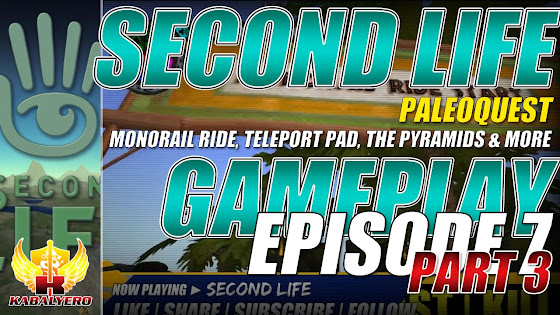 Second Life ★ PaleoQuest → Monorail Ride, Teleport Pad, The Pyramids & More