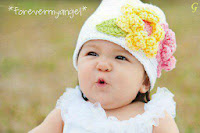 Baby Pictures Flower Cap Kid White Dress Images