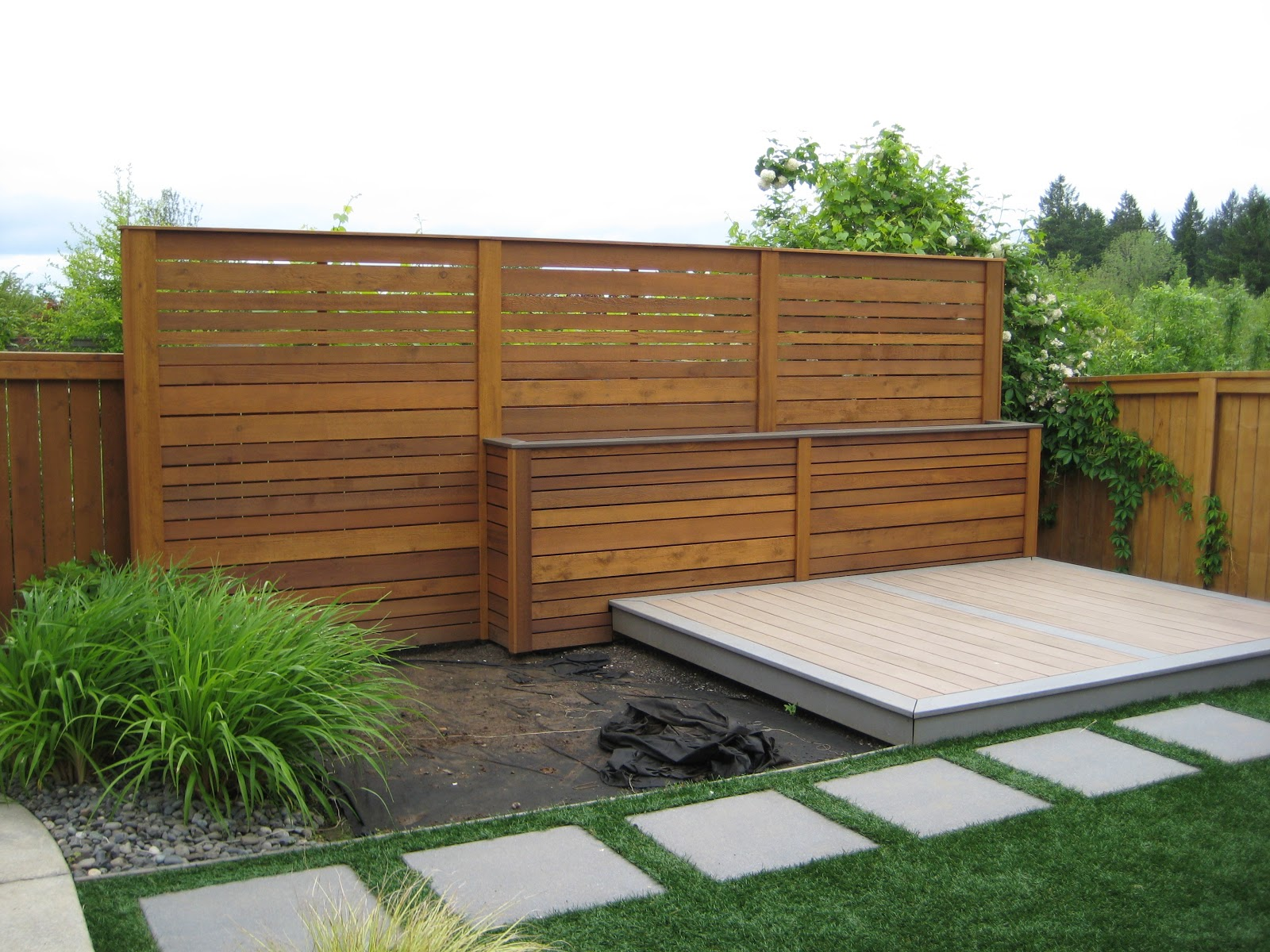 backyard privacy wall nobles project blog