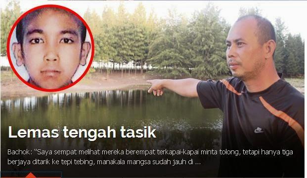 Remaja Mati Ketika Mandi Di Tasik Kuala Senok