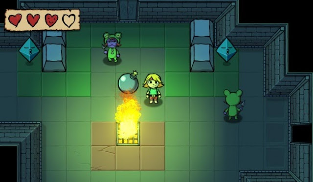 Screenshot of protagonist in video game Ittle Dew, which is coming to the Wii U eShop