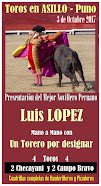 Luis López, anunciado en Asillo, el 03/10.