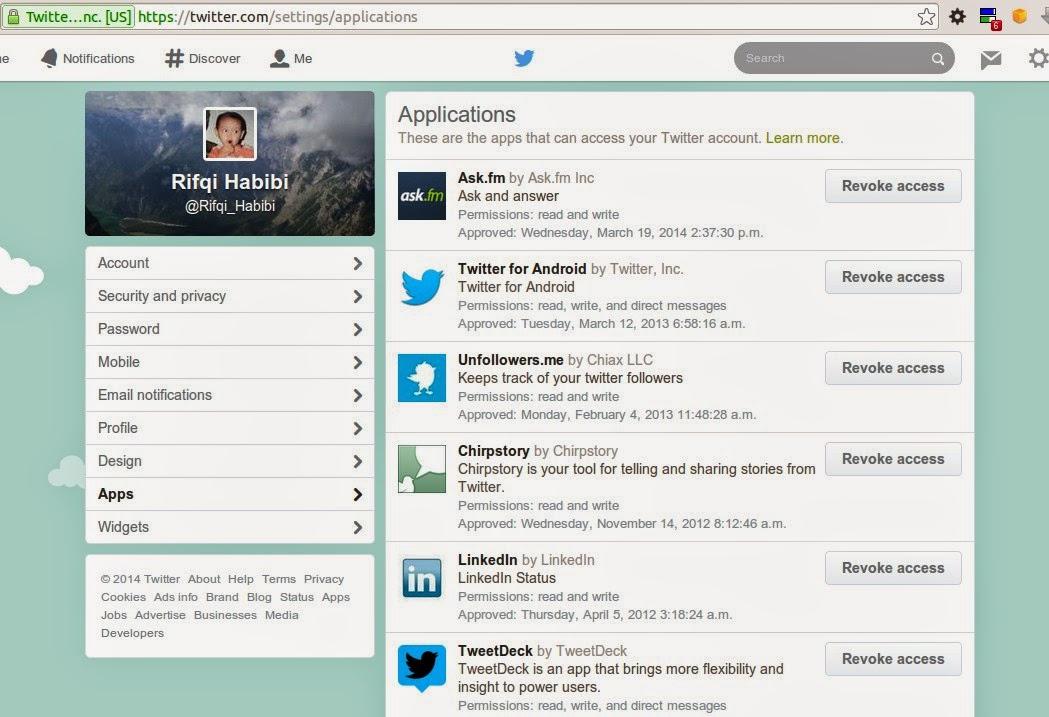 Nonaktifkan Tweet dan Retweet Otmatis Twitter