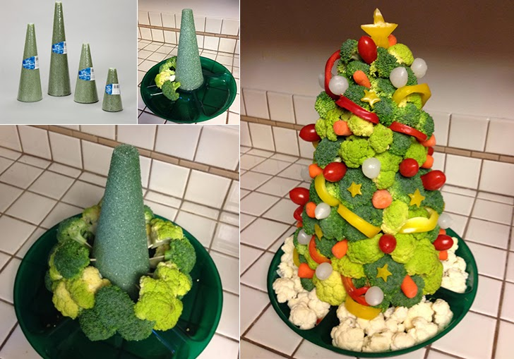 ... home, kitchen or only for you: Veggie Christmas Tree - Jelka od povrca