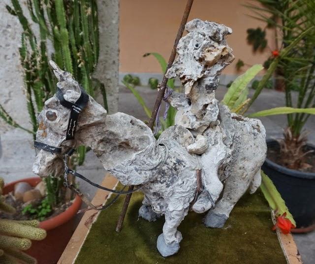 escultura piedra don quijote