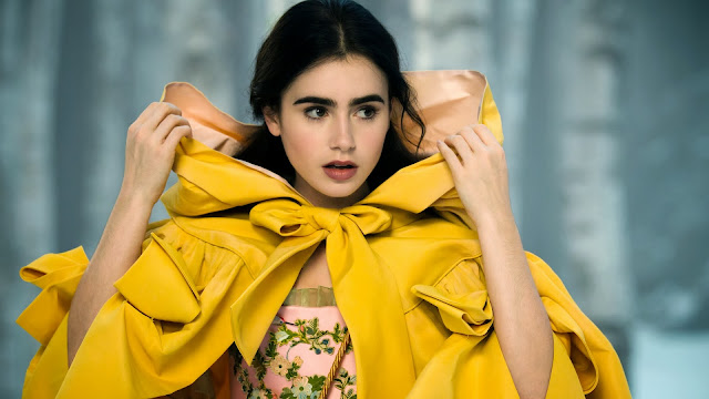 Lily Collins Stars HD Wallpaper