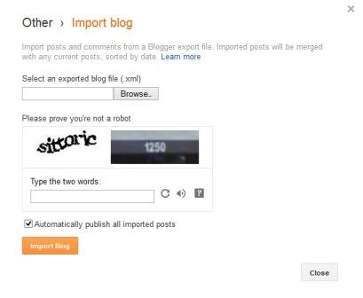 import tools for blogger