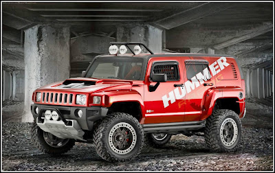 Red Hummer Race Modification - Hummer Cars Modification wallpaper