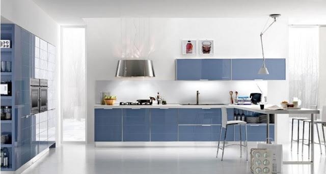 Cuisine design bleu marine - Cuisine bleu marine ...