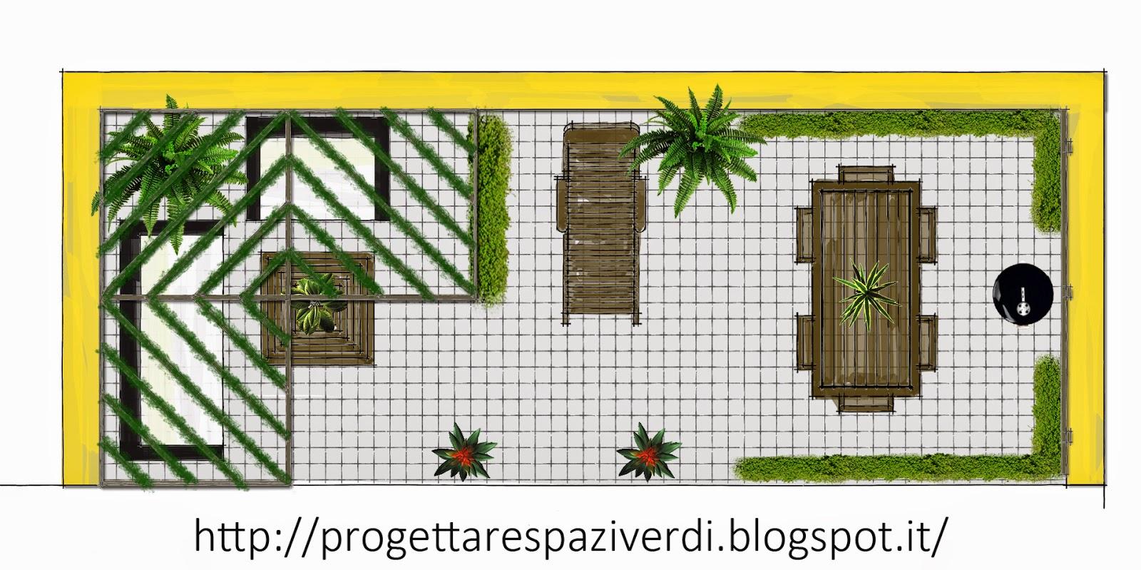 Progettare spazi verdi terrazzo per pranzare e prendere for Progettare spazi verdi