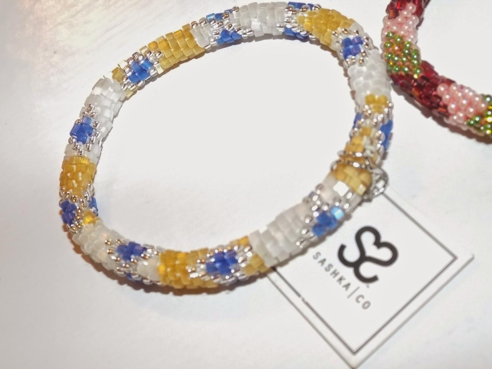 Sashka Co. Handbeaded bracelet